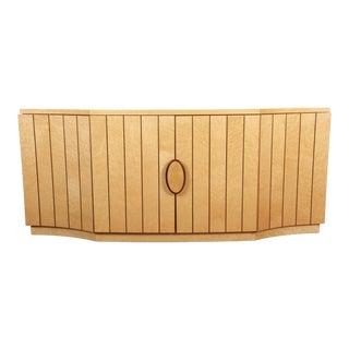 Italian Modern Art Deco Birdseye Maple Sideboard Credenza / Bar Cabinet For Sale