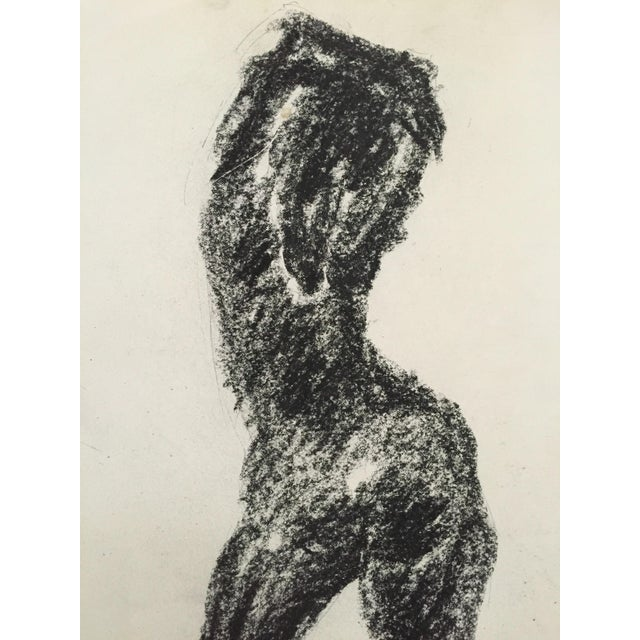 1960's Charcoal Female Silhouette Frank J. Bette - Image 4 of 5