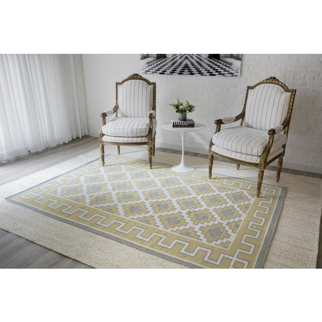 Erin Gates by Momeni Thompson Brookline Gold Hand Woven Wool Area Rug - 7′6″ × 9′6″ For Sale In Atlanta - Image 6 of 8