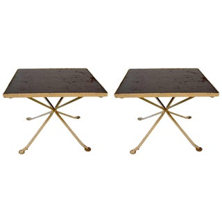 Unusual Pair of Tables Attributed to Woodard For Sale