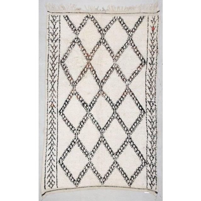 Vintage Beni Ourain Carpet - 5′9″ × 9′ - Image 2 of 6