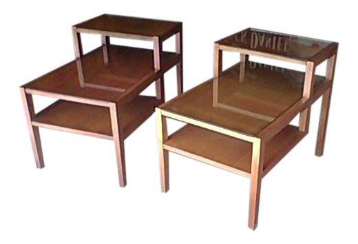 Conant Ball Birch Wood Side Tables   A Pair