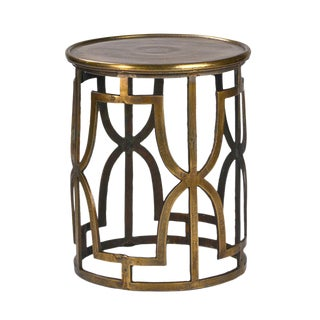 Milan Brass Round Side Table For Sale