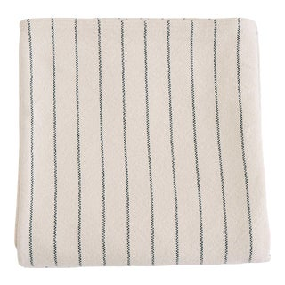 Pinstripe Blanket in Midnight Blue, Full/Queen For Sale