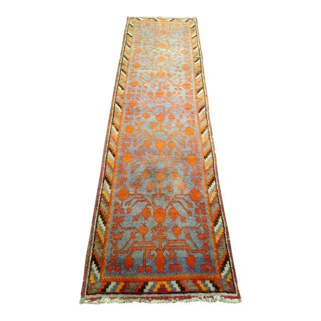 19th Century Art Nouveau Khotan Rug Runner - 2′2″ × 8′1″ For Sale