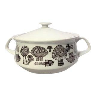 Mid Century Modern Kaj Frank Mushroom Ceramic Casserole For Sale