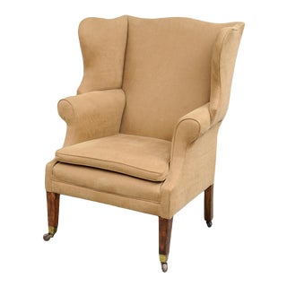 English George III Style Mahogany & Ash Wing Chair For Sale