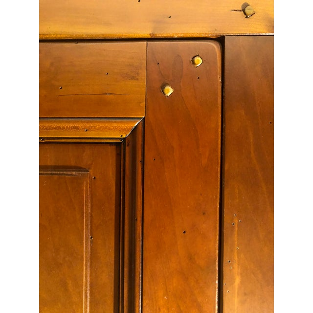 Wood 1980s Grange Directoire Distressed Fruitwood Clothing Armoire For Sale - Image 7 of 10
