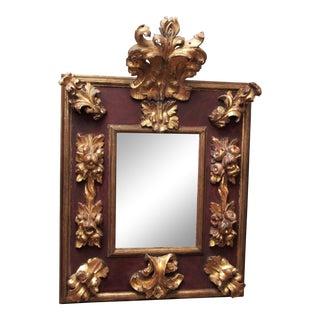 Italian Rococo Style Mirror For Sale