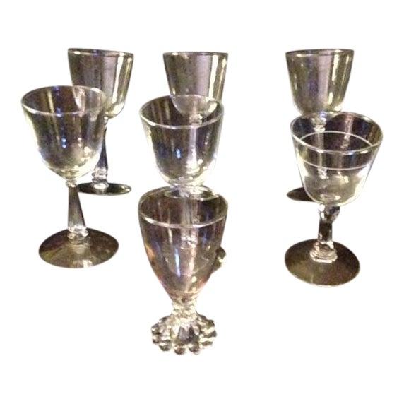 Vintage Wine Glasses - Set of 7 For Sale