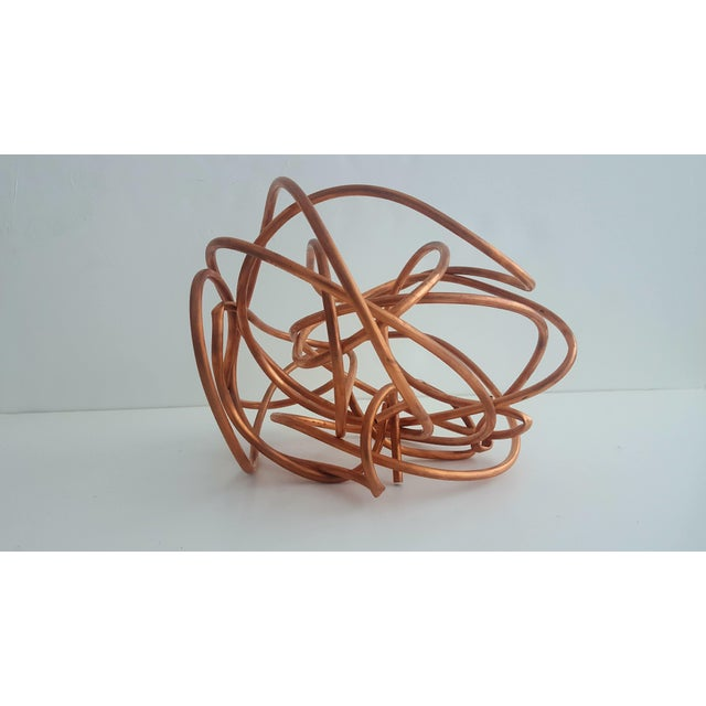 """Original Copper Coil """"Chaos"""" Twisted Knot Sculpture - Image 11 of 11"""