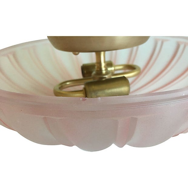 1950s Frosted Glass Flush Light For Sale - Image 9 of 11