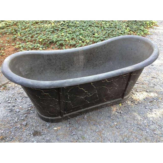 French Zinc Tub For Sale - Image 4 of 7
