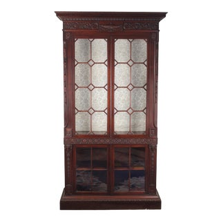 Late 20th Century English Adam-Style China Cabinet For Sale