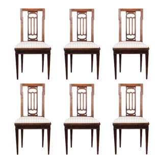 Early 19th Century Dutch 19th Century Walnut Dining Chairs - Set of 6 For Sale