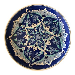 Turkish Handcrafted Wall Plate in Blue Turquoise