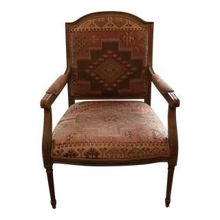 Louis XVI Brown Chair For Sale