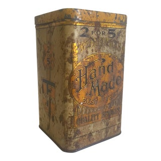 "Vintage Early 1900's ""W.M. Fredrick's Handmade Quality Smokes"" Tobacco Tin For Sale"