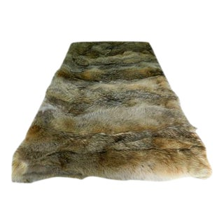 Cashmere Lined Coyote Fur Throw