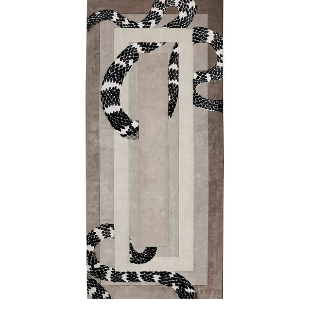 Imperial Snake Rug From Covet Paris For Sale - Image 4 of 4
