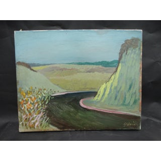 """1940s """"Route 336"""" Oil Painting by Anders Aldrin Preview"""
