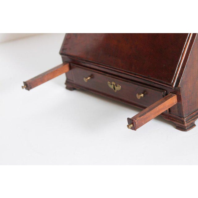 18th Century Georgian Mahogany Miniature Secretary For Sale - Image 11 of 13