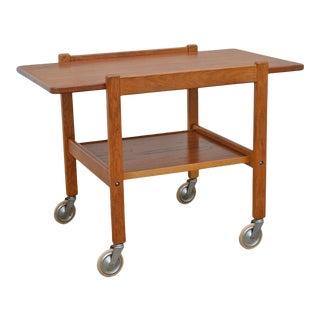 Mid-Century Teak Tea or Bar Cart Serving Trolley For Sale