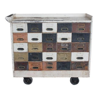 Early 20th C. American Industrial Multi-Drawer Cabinet For Sale
