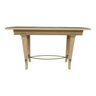 1930s Art Deco Cerused Oak Console For Sale