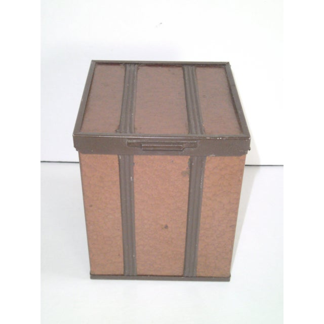 1940s Copper Enameled Metal on Wood Boxes - A Pair - Image 9 of 11