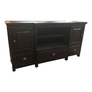 Canyon Furniture Solid Wood Entertainment Console For Sale