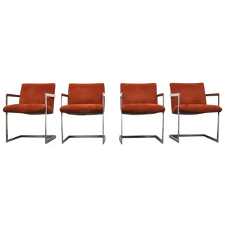 Set of Four Armchairs by Milo Baughman For Sale