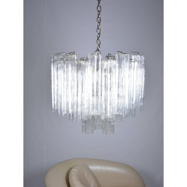 Mid-Century Modern Murano Glass Tronchi Chandelier For Sale - Image 3 of 9