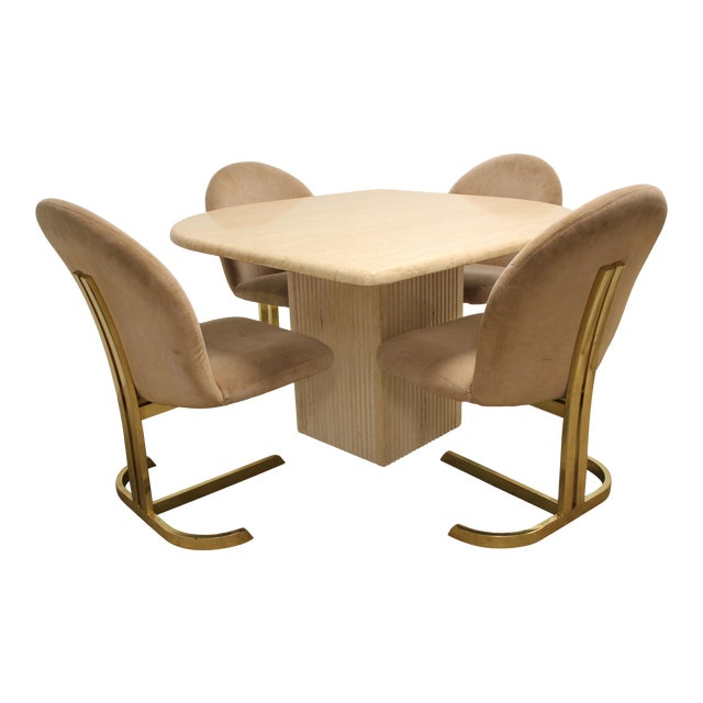 Space Age Milo Baughman Style Dining Room Table & Chairs For Sale