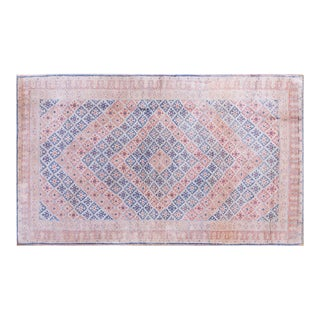 Vintage Cotton Agra Rug - 4'x7' For Sale