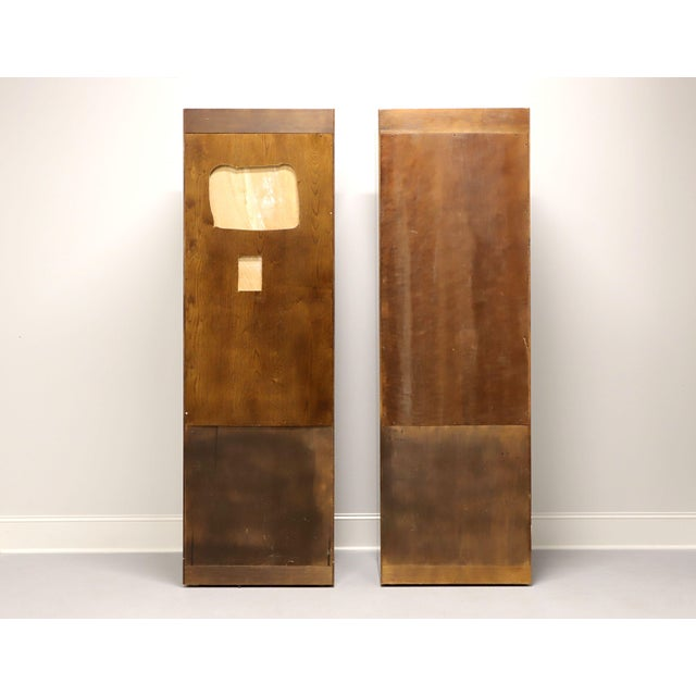 Henredon Henredon Scene One Campaign Style Armoire Cabinets - Pair For Sale - Image 4 of 13