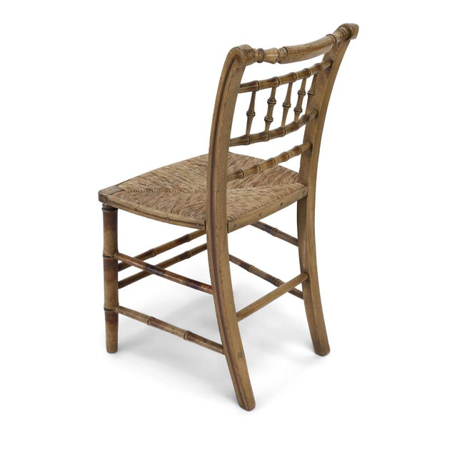Pair of Faux Bamboo Side Chairs For Sale - Image 10 of 11