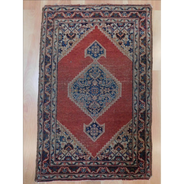 Islamic Antique Persian Tabriz Rug - 1′8″ × 2′8″ For Sale - Image 3 of 5