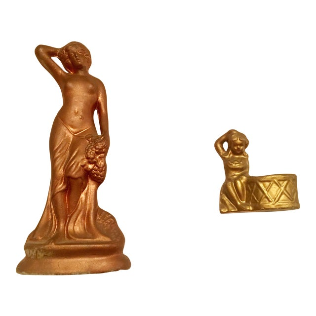 Art Nouveau Porcelain Figurines - A Pair - Image 1 of 6