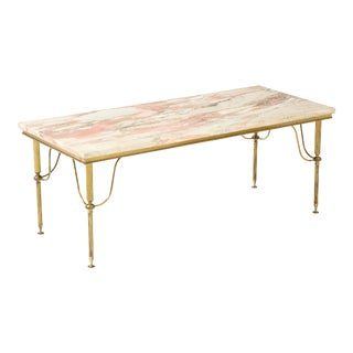 Early 20th Century Pink Marble Cocktail Table For Sale