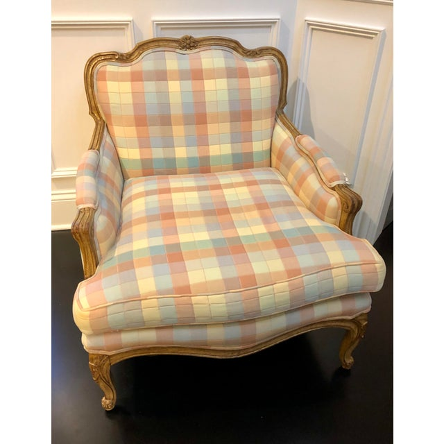 Offered is a quality vintage upholstered chair with removable cushion. This piece had one owner and very well cared for....