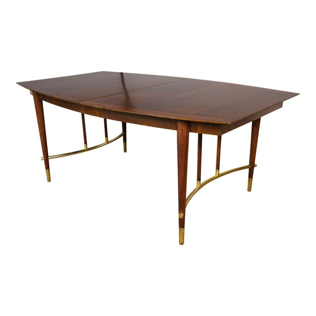 Bert England for Johnson Furniture Walnut Dining Table With 3 Leaves For Sale - Image 9 of 9