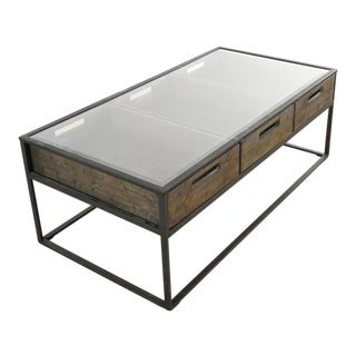 Contemporary Pottery Barn Rectangular Cocktail Table For Sale