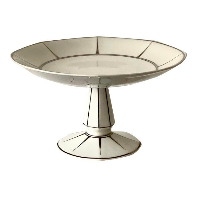 Antique Limoges Boisbertrand & Theilloud Art Deco Porcelain Footed Bowl For Sale