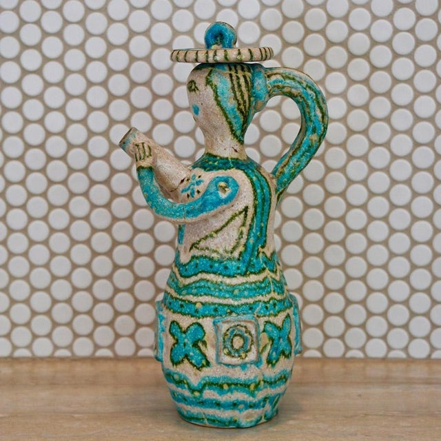 Mid-Century Modern Mid 20th Century Guido Gambone Maiden Pitcher For Sale - Image 3 of 6
