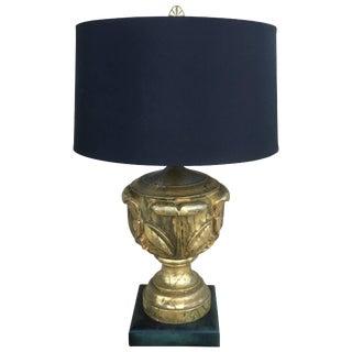 Gold Leaf Custom Hollywood Regency Lamp For Sale