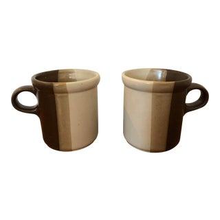 Vintage McCoy Sandstone Mugs - a Pair For Sale