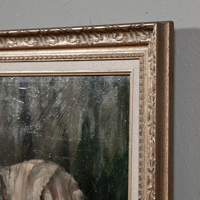 Expressionism Antique Framed Hand Painted Oil Painting on Canvas by Jon Kenerny For Sale - Image 3 of 10