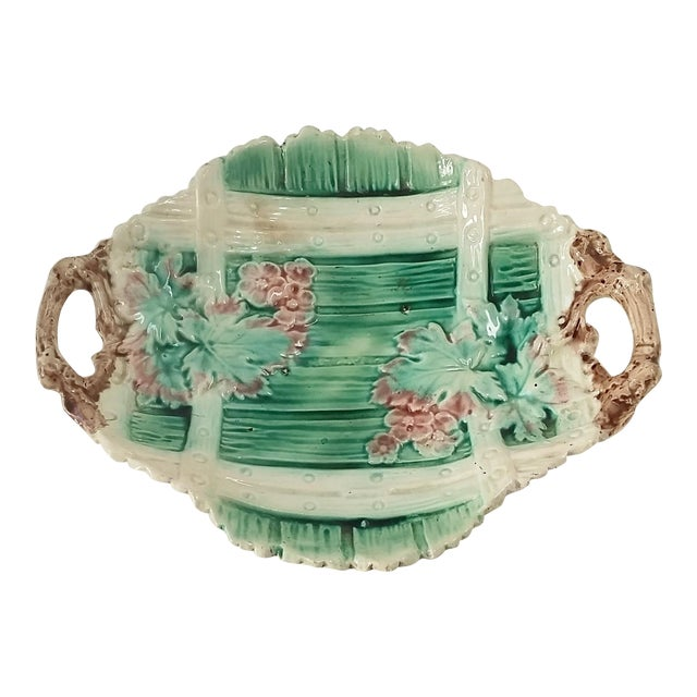 Antique Majolica Serving Dish - Image 1 of 5