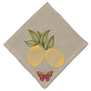 Cottage Lemon Dinner Napkin For Sale